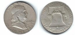 EE.UU. USA HALF DOLLAR 1962 PLATA SILVER T - 1948-1963: Franklin
