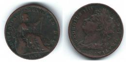 R.U. INGLATERRA JORGE IIII  HALF FARTHING 1825  T - 1816-1901 : Acuñaciones S. XIX