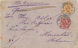 K&A Eilbotenbrief Ins Ausland Wechselverkehr 1896 RR Gepr. BPP - Briefe U. Dokumente