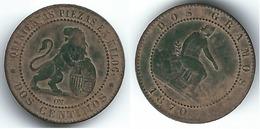 ESPAÑA I REPUBLICA 2 CENTIMOS  PESETA 1870  0217 NP - [ 1] …-1931 : Reino