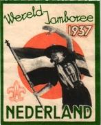2 Poster Stamps Cinderella   SCOUT Padvinder  PFADFINDER   Wereld Jamboree NEDERLAND 1937 Australia Corroboree 1936 - Movimiento Scout
