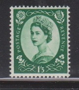 GREAT BRITAIN - Scott # 332 Mint Never Hinged - Nice Stamp With Good CV - 1952-.... (Elizabeth II)