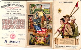 1 Membership Card  Carte De Membre   BOOKLET  SCOUT Padvinder  PFADFINDER   Be Prepared  1945 Illustr Norman Rockwell - Scouting