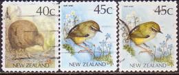 NEW ZEALAND 1991 SG 1589-89ab Set+var Used Kiwi Self-adhesive - Nuova Zelanda