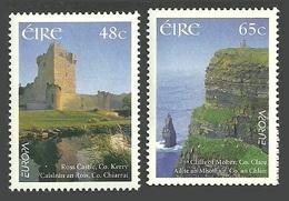 IRELAND 2004 EUROPA HOLIDAYS GEOLOGY CLIFFS CASTLES RIVERS SET MNH - Nuovi