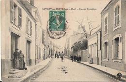41 - SAVIGNY SUR BRAYE - Rue Des Pépinières (femmes Dansant Sur Une Table Dans La Rue) - France