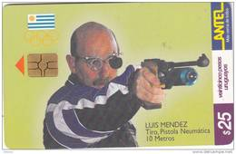 URUGUAY - Uruguayan Olympic Team, Luis Mendez/Pistola Neymatica 10 Metros(138a), 09/00, Used