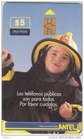 URUGUAY - Little Fireman(16b), Chip GEM, 07/99, Used
