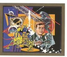 1988 Comores Comoro Columbus JFK Kennedy  Perf & Imperf 2 Souvenir Sheets MNH