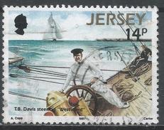 Jersey 1987. Scott #415 (U) T.B. Davis, Owner, Racing Schooner Westward * - Jersey
