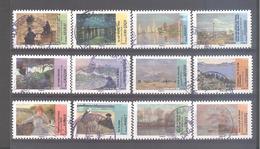 France Autoadhésifs Oblitérés N°825 à 836 (Série Complète : Avant Et Après L'impressionnisme) (cachet Rond) - France