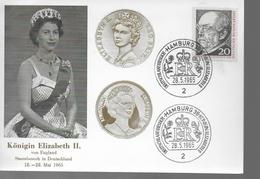 ALLEMAGNE Carte   Elizabeth II  Hamburg 1965 - Koniklijke Families