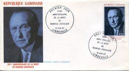 19741 Gabon, Fdc  1987  Konrad Adenauer, German Chancelier, - Celebridades