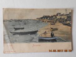 CPA 33  ARCACHON  - La Plage  écrite Et Timbrée En 1902 - Arcachon