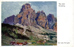 ENNEBERG, Gemälde Von Karl Ludw. PRINZ, 24.4.1917 - Italien