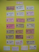 Lot De Vignette De Recommandé .....  Le Havre ( à Voir ) - Documents Of Postal Services
