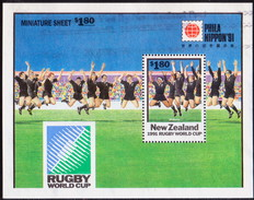 NEW ZEALAND 1991 Like SG 1627 M/s But Inscr.PHILA NIPPON '91 Used Rugby Championship - Nuova Zelanda
