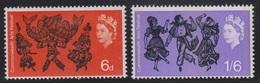 GREAT BRITAIN - Scott # 428-9 Mint Never Hinged - QEII Traditional Folk Dances - 1952-.... (Elizabeth II)