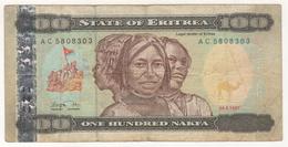 ERITREA  100 NAKFA 1997 USED - Eritrea