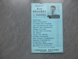 Jean SEGUREL Recueil N°3 De 15 Succès , Limousine Editions   ; Ref 501 PA 08 - Scores & Partitions