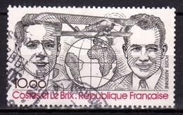 FRANCIA 1981 - AVIATEURS - COSTES ET LE BRIX - YVERT AEREO Nº 55** - VALEUR FACIAL - USED - Aéreo