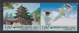 2002 South Korea Coree De Sud - Regions Chungbuk Martial Arts, Mt Sogri Beopju Temple  2v., Tourism, Sport Sc#2088 MNH - Martiaux