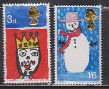 GREAT BRITAIN - Scott # 478-9 Mint Never Hinged # 2 - QEII Christmas Issue - 1952-.... (Elizabeth II)