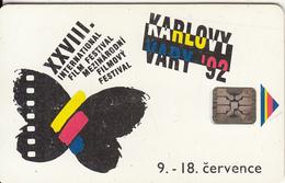 "CZECHOSLOVAKIA - Karlovy Vary ""92, XXVIII International Film Festival, Chip SC5, Tirage %50000, 07/92, Used"