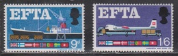 GREAT BRITAIN - Scott # 480-1 Mint Never Hinged # 2 - QEII EFTA Member Flags - 1952-.... (Elizabeth II)