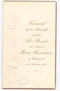 Menu - Huwelijk Felix Benoot En Maria Meersseman - Thourout Torhout - 13.01.1923 - Menus