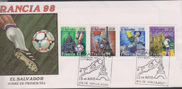 O) 1998 EL SALVADOR,WORLD FOOTBALL FRANCE 1998, SPORT - HERITAGE, FDC XF - El Salvador