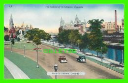 OTTAWA, ONTARIO  - THE GATEWAY TO OTTAWA - ANIMATED OLD CARS - PUB. BY NATIONAL NEWS CO LTD - - Ottawa