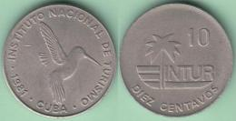 1981-MN-111 CUBA. 10c INTUR 1981 ZUNZUN. TURISMO TOKEN. CU-NI. - Cuba