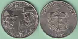 2009-MN-102 CUBA. 1$ 2001 CU-NI. FIDEL CASTRO Y RAUL CASTRO. XF PLUS. - Cuba