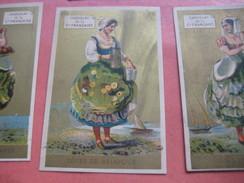 6 Litho Cartes Trade Cards Compl Set CR 1-1-18 Printer Courbe Rouzet /rue Hauteville RR PUB C1880 Chocolat CieFrançaise - Chromos