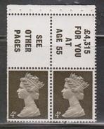 BRITAIN - Scott # BK6a Mint Never Hinged - QEII British Booklet Pane - 1952-.... (Elizabeth II)