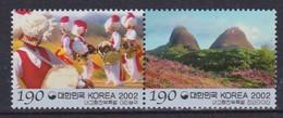 2002 South Korea Coree De Sud - Regions Jeonbuk Iri Folk Farm Music Band, Mt Mai Pair 2v.,Tourism, Geology Sc#2099 MNH - Géographie