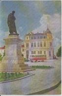 Romania - Constanta - Statuia Lui Ovidiu - Orasul Vechi - Litho Type Postcard - Bus, Coach - Romania