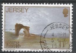 Jersey 1987. Scott #437 (U) Grosnez Castle, Painting By John Le Capelain (1812-1848) * - Jersey