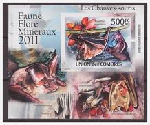 0023 Comores 2011 Vleermuizen Bats S/S MNH Imperf - Vleermuizen