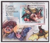 0030 Comores 2011 Vleermuizen Bats S/S MNH Imperf - Vleermuizen