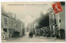 Fontaine Les Dijon Place Du PERRON Et Rue De La MARE, Animée - Autres Communes