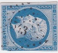 N° 14 B  PC  3543   VERTUS    /   MARNE    -  REF 10009  INDICE 5 - 1853-1860 Napoléon III.