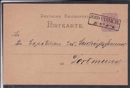Ganzsache Deutsches Reich Stempel Jordansmühl 1880 ? - Germania