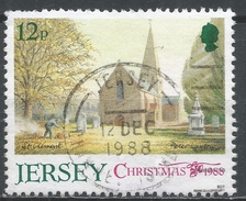 Jersey 1988. Scott #467 (U) Christmas: Parish Church St. Clement * - Jersey