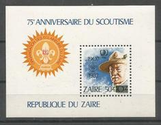 ZAIRE - MNH - Organizations - Scouting - 75 Anniversary - Scouting