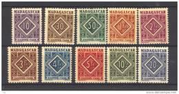 Madagascar  -  Taxes  :  Yv  31-40  ** - Madagascar (1889-1960)