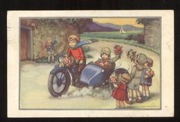 CARTOLINA - BAMBINI - KINDER - CHILDREN - ENFANTS - SIDECAR -  VIAGGIATA 1942  (22) PIEGOLINA IN ALTO - Ritratti