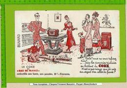 BUVARD : Le Coke De Gaz De France - Electricité & Gaz