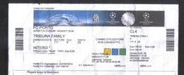 ITALY  -  JUVENTUS   Vs   FC PORTO   ( CHAMPIONS LEAGUE MATCH TICKET 14 / 03 / 17 ) - Match Tickets